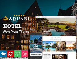 Hotel and Resort WordPress Theme - Aquari