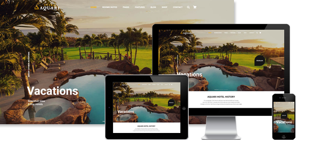 Aquari - Hotel and Resort WordPress Theme