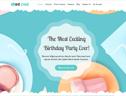 Bakery WordPress Theme - WS Cake