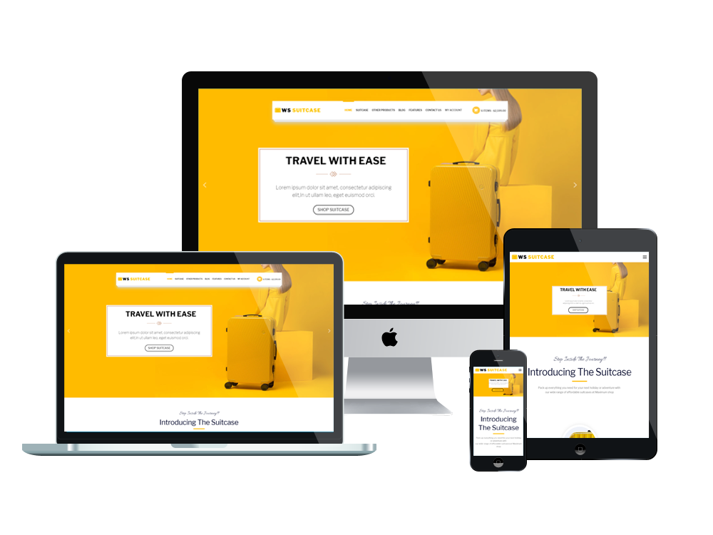 Travel Bag woocommerce wordpress mobile theme