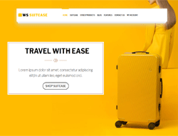 Travel Bag WooCommerce WordPress theme - WS Suitecase
