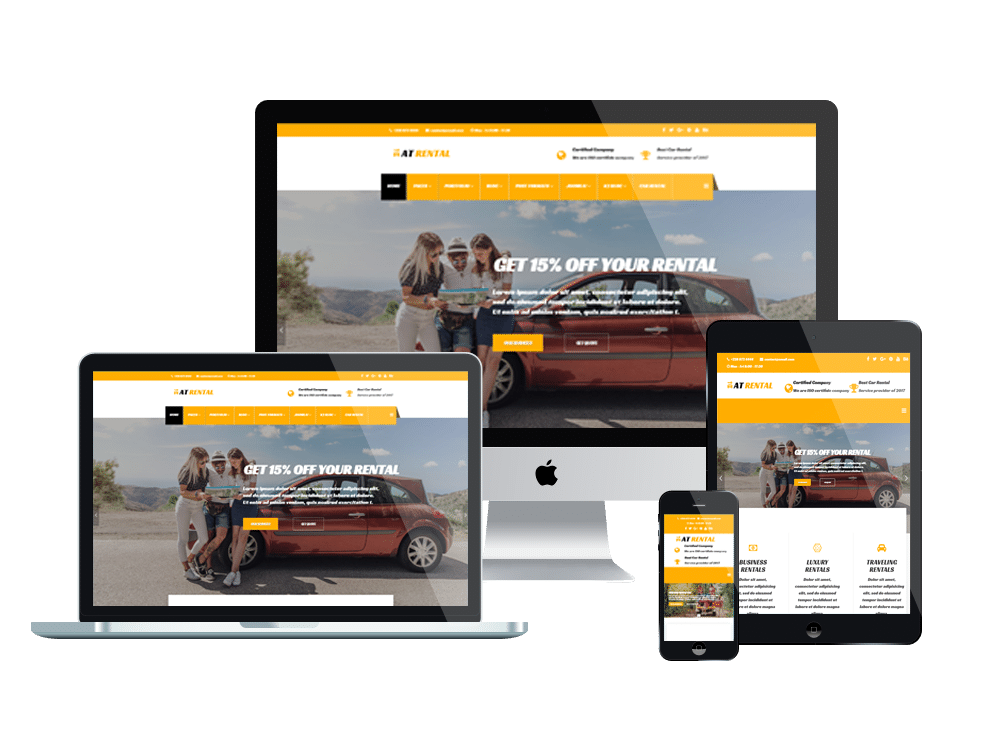 Car rental Joomla template Layout