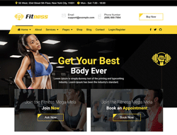 Gym & Fitness Joomla Template - JD Fitness