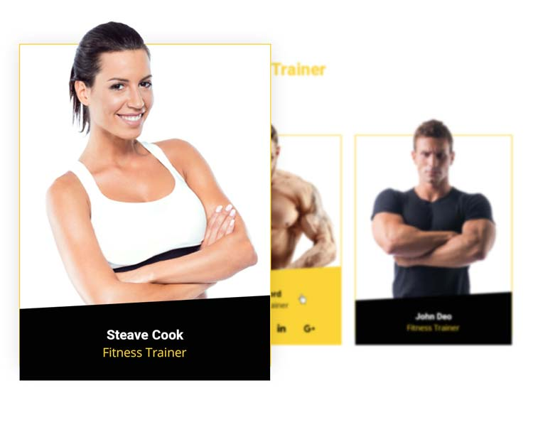 Trainer Showcase Joomla template