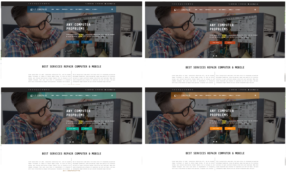 Computer Repair Joomla template Color Styles