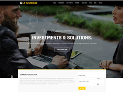 Cryptocurrency Joomla Template - LT Curico