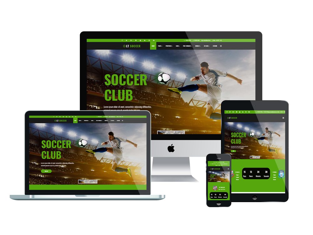 Sport Joomla template Layout