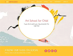 Educational Joomla Template - LT ArtClass