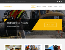 Construction HTML Template - Constra