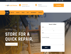 Electrician Joomla Template - ET Electrical