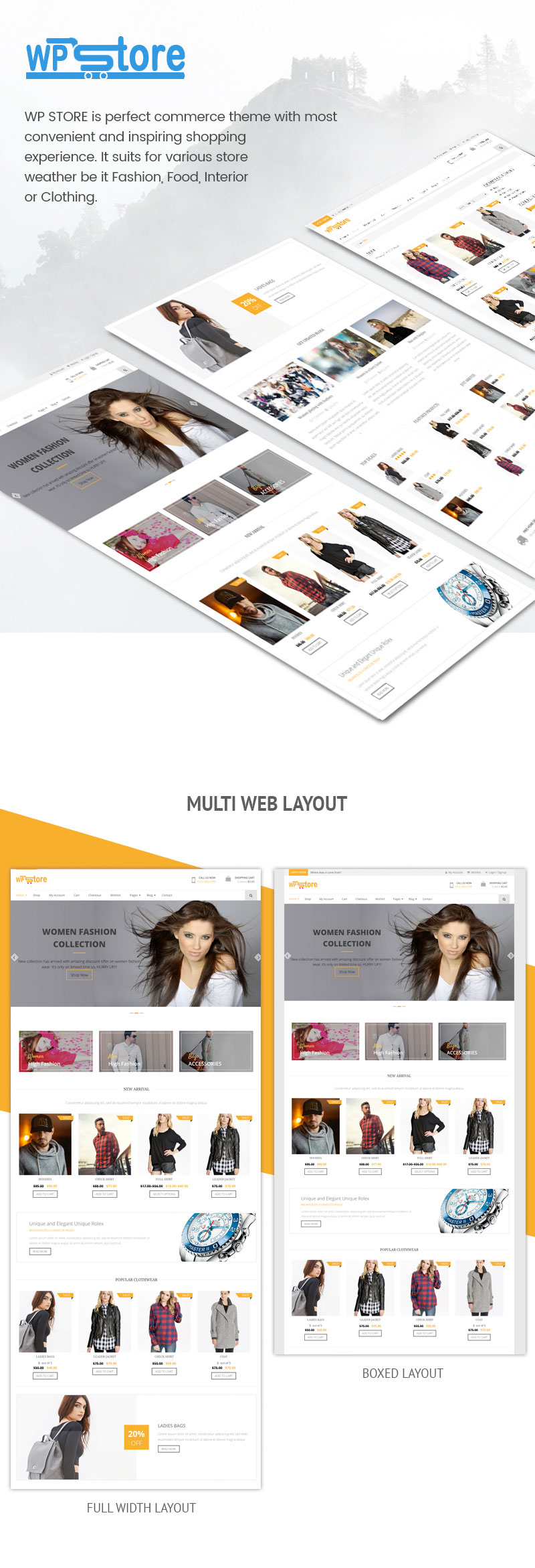 Free WooCommerce WordPress Theme Features