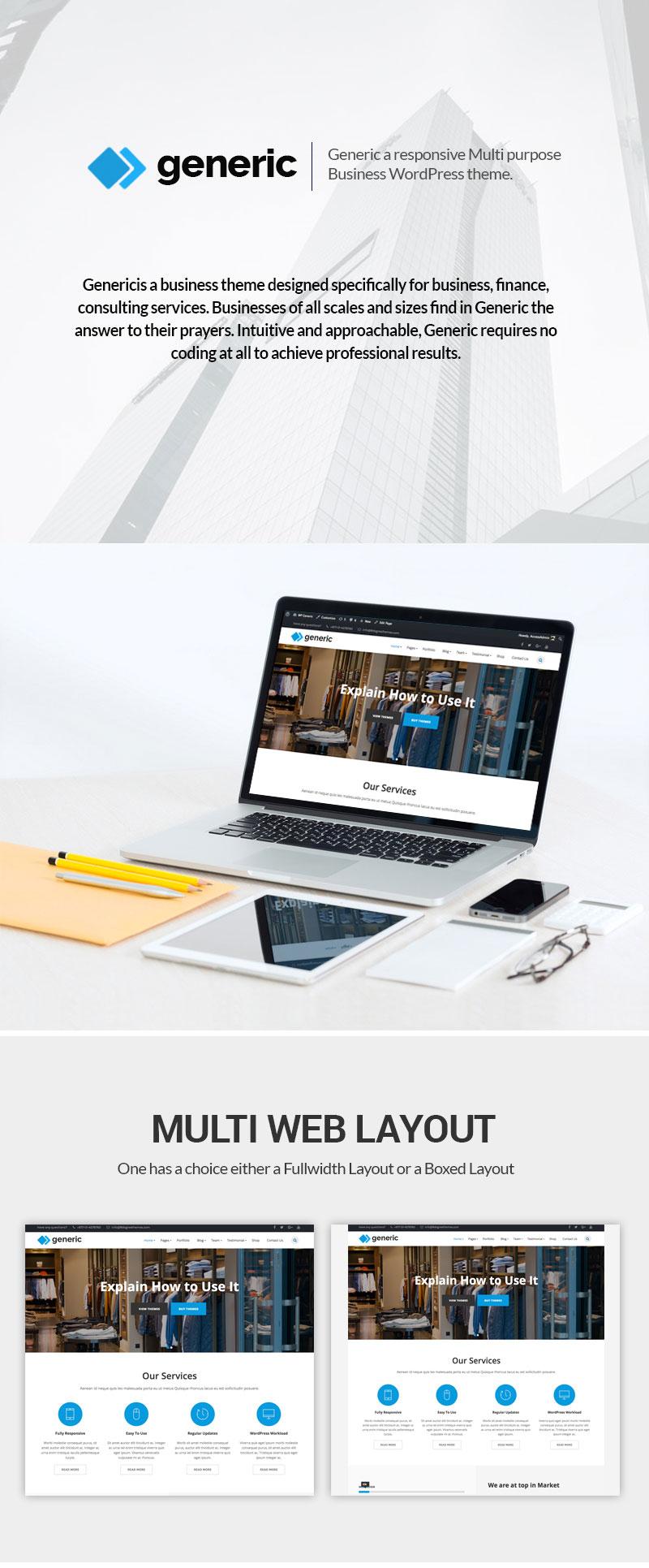 Free Multipurpose WordPress Theme Features
