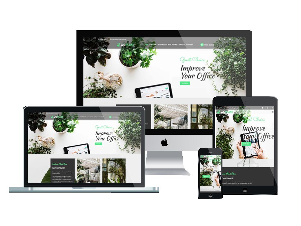 Garden WooCommerce Wordpress mobile theme