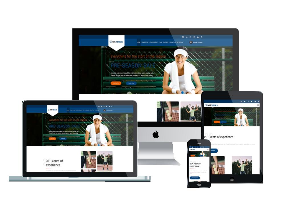 Sport WooCommerce Wordpress mobile theme