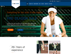 Sport WooCommerce WordPress theme - WS Tennis