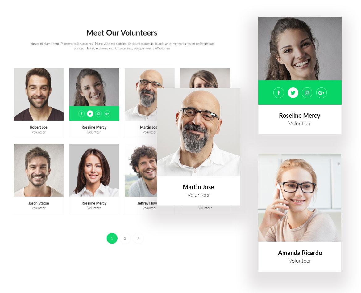 Volunteer Showcase Joomla template