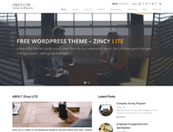 Business WordPress Theme - Zincy Lite