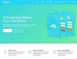 Top Website Template - Aqua App