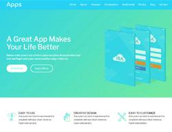 Mobile App HTML Template - Aqua App