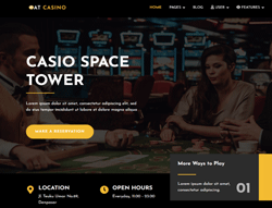 Entertainment Joomla template - AT Casino