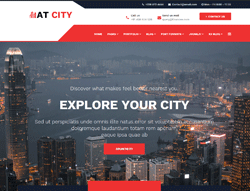 Travel Guide Joomla Template - AT City