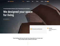 Architecture WordPress Theme - ET Archex