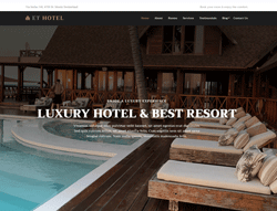 Hotel WordPress Theme - ET Hotel