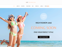 Clothing WordPress Theme - ET Swimmer