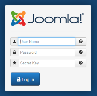 Joomla! Two Factor Authentication key